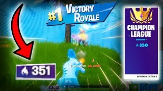 This is how you get over 350 points in ARENA and WIN! (Fortnite Ranked Mode) | EASY DIVISION 7 WINS