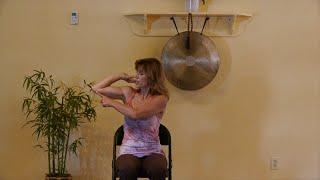 Yummy Fascia Arm Stretches with Sherry Zak Morris, E-RYT Chair Yoga Teacher