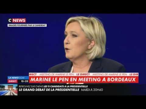 Meeting de Marine Le Pen à Bordeaux (CNEWS, 02/04/17, 15h30)