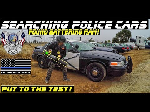 Download Youtube: Searching Police Cars Found Battering Ram! Ford Crown Victoria Interceptor