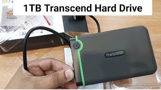 Transcend 1TB  hard  drive unboxing |  How To Connect EXTERNAL Hard Drive  To Any Android Mobile
