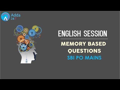 SBI PO MAINS 2017 Memory Based Questions | English | Online Coaching for SBI IBPS Bank PO