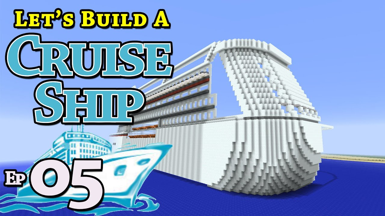 How To Build A Cruise Ship Minecraft E Z One N Only - Cruise ship building games
