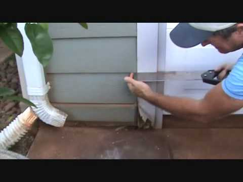 How to remove a dry rot exterior wood trim piece  YouTube