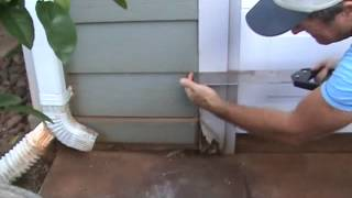 How to remove a dry rot exterior wood trim piece