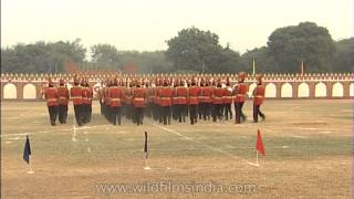 BSF jawans synchronizing with music performs a march past