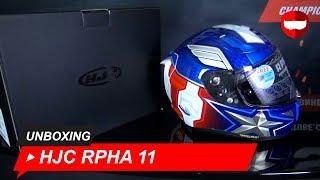 Unboxing HJC RPHA 11 Captain America   ChampionHelmets com