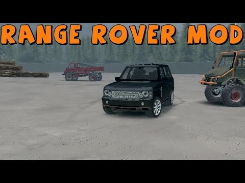SpinTires | New Modded Map Exploration | Range Rover Sport | Download Links In Description