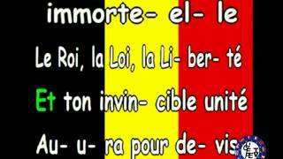 L'hymne national de la Belgique