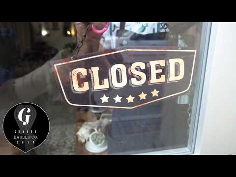 In Chase's chair - G street Barber co. - grants pass Oregon