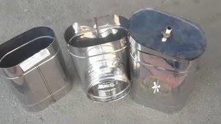 Овальные дымоходные трубы из нержавейки(Приобрести овальные дымоходы можно в компании ТОВ