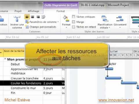 Mon premier diagramme de gantt sur project 2010 youtube mon premier diagramme de gantt sur project 2010 ccuart Choice Image