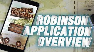 Robinson Crusoe app - presentation and breakdown with the designer
