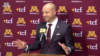 Press Conference: P.J. Fleck Previews Iowa