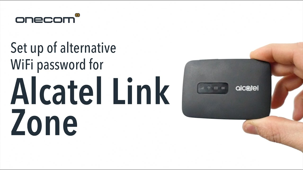 Set Up Of Alternative Wifi Password For Alcatel Link Zone