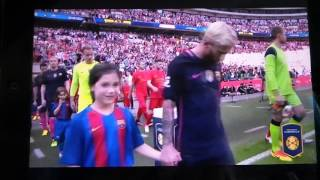 George mascot day wembley barcelona lfc