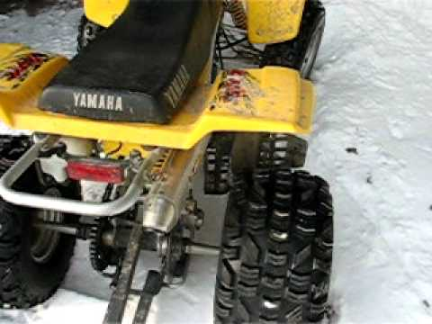 97 yamaha blaster rebuilt youtube for Yamaha blaster crankcase oil type
