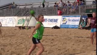 Tag eins der Offenen Niedersachsenmeisterschaften der A- und B-Jugend im Beachhandball