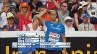 Javelin Man European Athletics Championships Zürich 2014