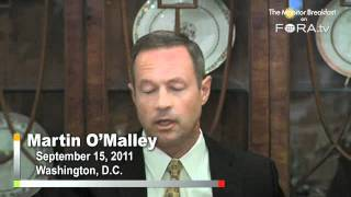 "Dga Chair O'malley ""sincerely"" Believes Gop Fighting Obama's Jobs Plan For Political Advantage"