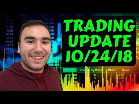 Trading STOCKS During Earnings?! | TRADING UPDATE 10/24/18