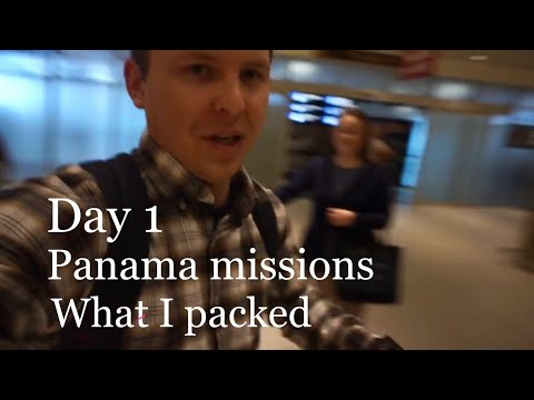 Day 1, What I Packed for a missions trip, Maine to Panama! A missions trip!