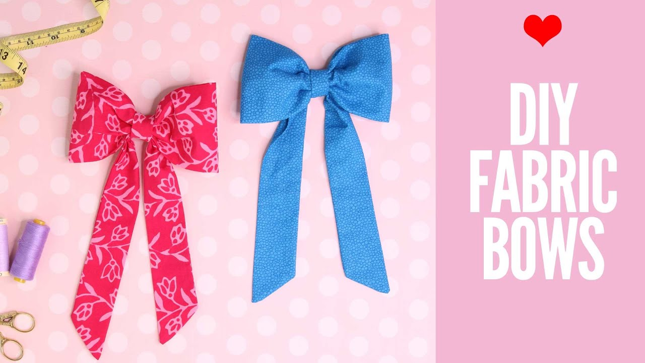 Diy Fabric Bow How To Make Bows