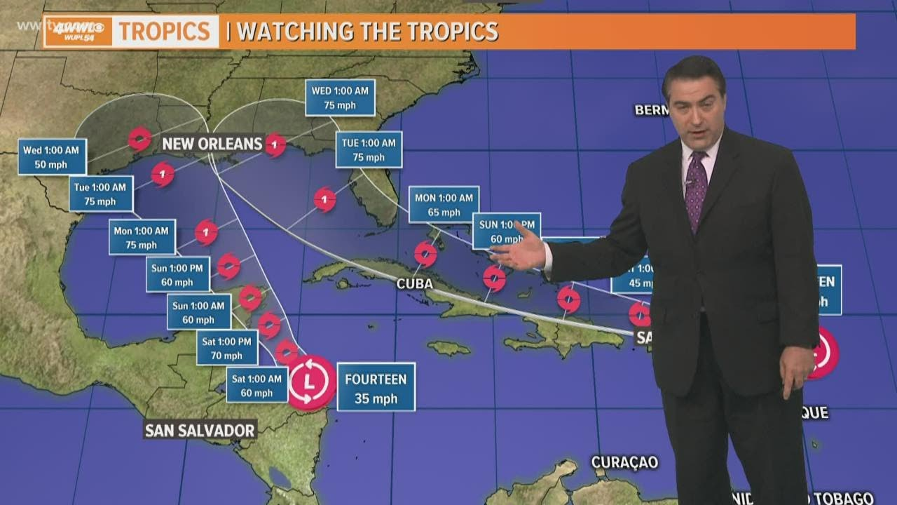 Two hurricanes expected in Gulf of Mexico; Florida still in path of one