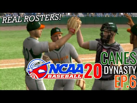 Ranked No. 1 And NEW Gear! | Miami Road To 2020 College World Series #6 | MVP 07 NCAA Baseball (PS2)