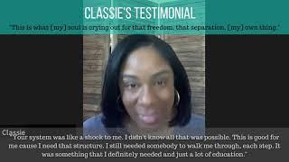 Testimonial Video - Classie C.