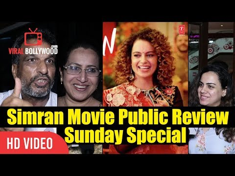 Simran Movie Sunday Review | My Name Is Khan But I Love Kangana | Simran 3rd Day Public Review
