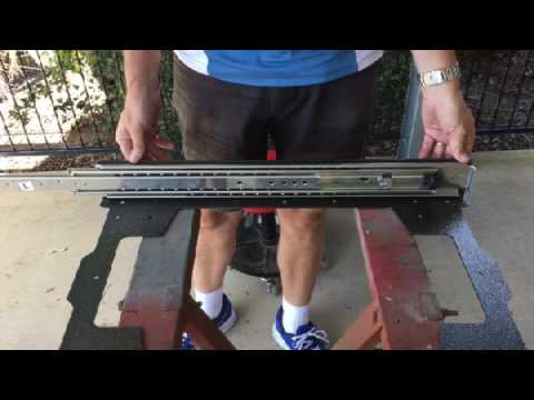 700mm Drawer Slide Demonstration