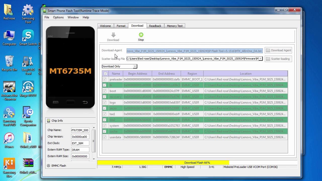 Lenovo Vibe p1m stock rom | p1ma40 marshmallow update | How To Update  Lenovo Vibe p1m Sp FlashTool
