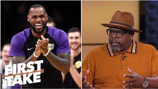 Cedric the Entertainer welcomes LeBron James to L.A.; understands Le'Veon Bell holdout | First Take