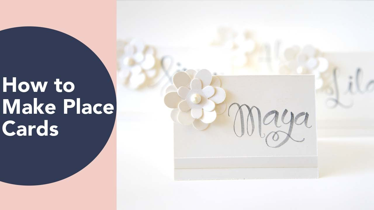 how to make a place card