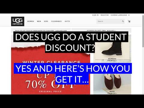 e5c05627a Ugg Student Discount - YouTube