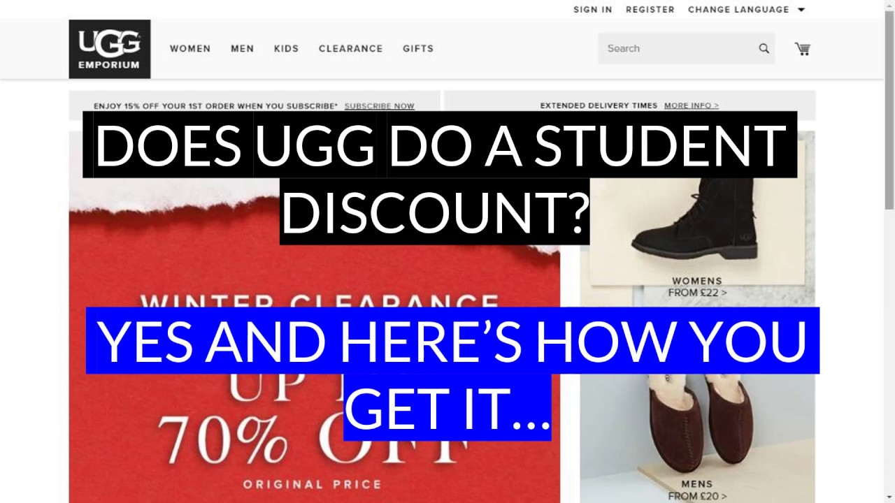 270e6ed9a5f Ugg Student Discount | 50% Off & 10% Code (August 2019)