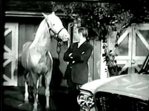 Mister Ed the talking horse - Lark Car TV Commercial