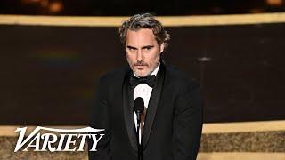 Joaquin Phoenix Says He's Been a 'Scoundrel' in 'Joker' Speech at Oscars