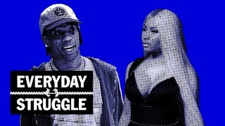 Nicki Minaj Calls Travis Scott a 'Stupid F--k', Then Drake Brings Travis on Stage| Everyday Struggle