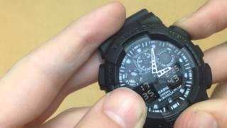 Як налаштувати копію годин g-shock ga110/100/200 та інші.