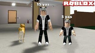 Küçük Çocuk Olup Büyümeye Çalışıyoruz!! - Panda ile Roblox Growing Up