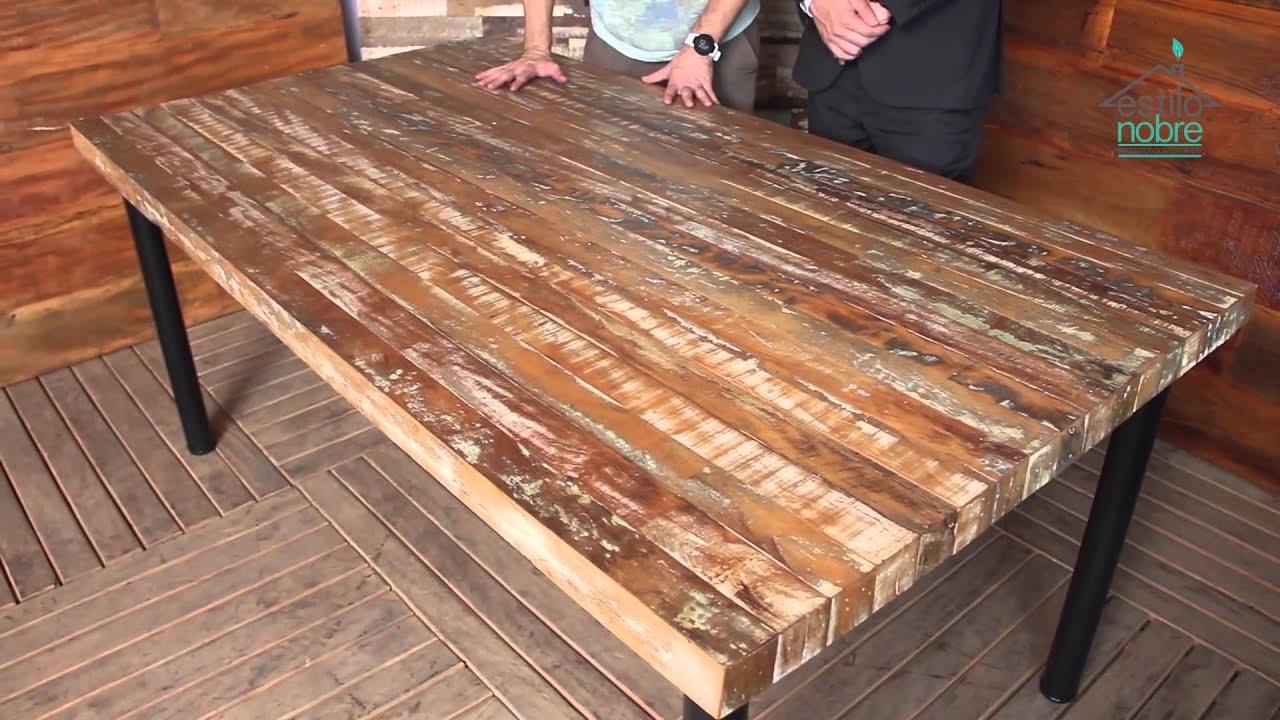 Movel rústico Mesa rustica 2.00 Chapeado em Madeira de Demolicao  #A75F24 1920x1080