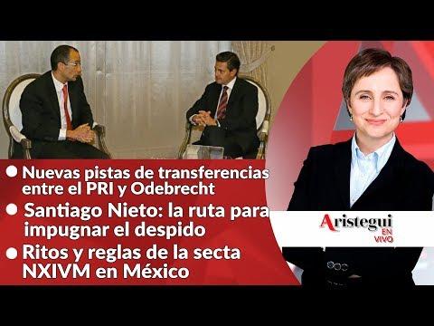 #AristeguiEnVivo 23 de octubre: ¿qué sigue para Santiago Nieto?; NXIVM; Mesa Política y más…