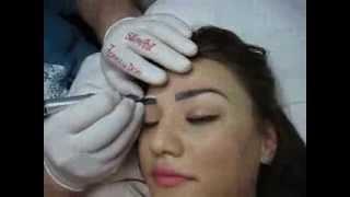 Camuflaj sprancene make-up artist Zarescu Dan Clinica Slimart corectare tatuaj de la alt salon