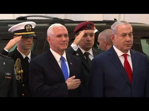 AFP news agency: Pence welcomed by Israeli PM Netanyahu in Jerusalem