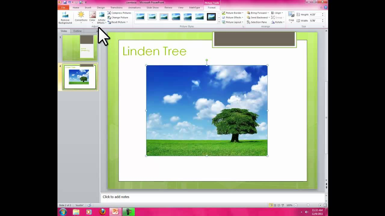 Adding Artistic Effects To A Picture On PowerPoint YouTube