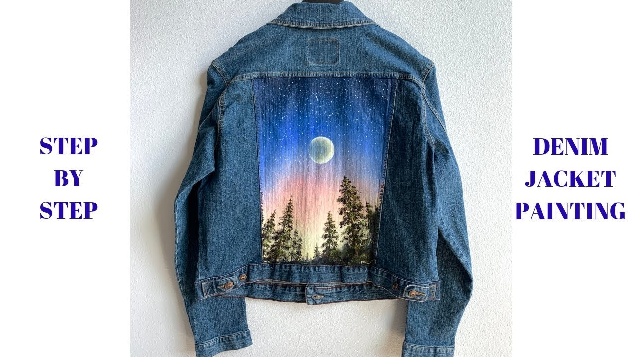How To Paint A Denim Jacket With Acrylics Step By Step Colorbyfeliks Youtube