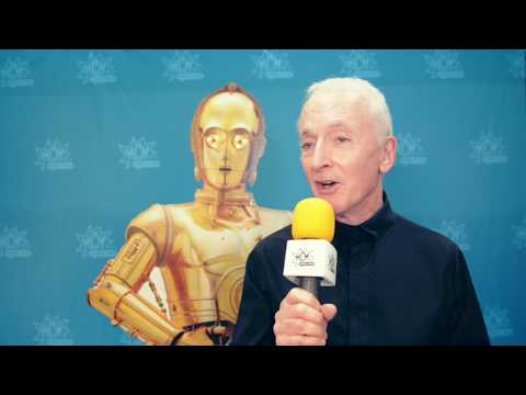 Live from #comiccon - Anthony Daniels aka C-3PO from Star Wars