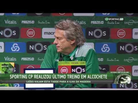 Conferência de Imprensa Jorge Jesus - Marítimo X Sporting CP - 20 de Janeiro de 2017